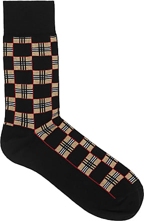 Burberry Chequer pattern socks - Black