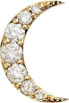 Zoe & Morgan Gold & Diamond Luna Moon - Einzelner Ohrstecker - One Size - Gold