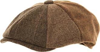 Hawkins Mens Plain Baker Boy Hat (59 cm) Brown