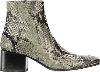 Acne Studios snake-print ankle boots - Green