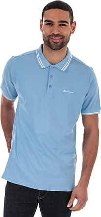 Ben Sherman Mens Mens Twin Tipped Polo Shirt in Sky - S Blue