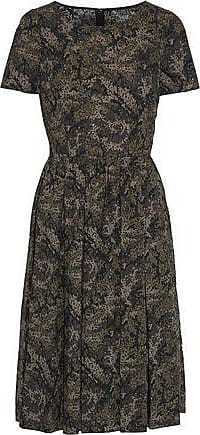 398411af0bf Dolce   Gabbana Dolce   Gabbana Woman Pleated Printed Cotton-poplin Dress  Sage Green Size
