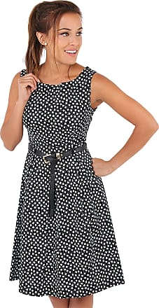 Krisp 7158-BLK-08: Ditsy Print Pin Up Dress Black
