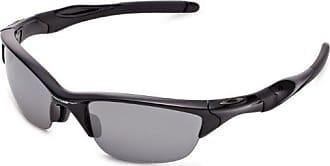 Oakley mens Half Jacket 2.0 OO9153-04 Iridium Polarized Sport Sunglasses,Polished Black,55 mm