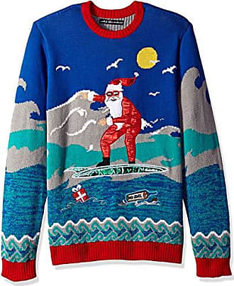 2f04c9229e7c Novelty Blizzard Bay Mens Shirtless Santa Ride Ugly Christmas Sweater  Novelty & More