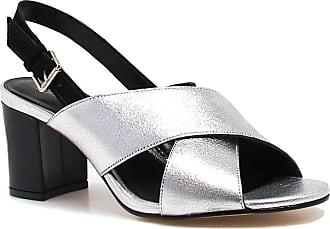 Zariff Sandália Zariff Shoes Salto Metalizada