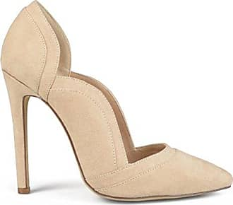 8394949e1ea1 Brinley Co Womens Pointed Toe Scalloped Faux Suede High Heel Pumps Nude 10