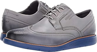 Rockport Total Motion Sports Dress Wing Tip (Castlerock Grey/Punchy Lime) Mens Shoes