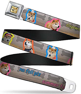 Buckle-Down Mens Seatbelt Belt Regular Show Kids 1.0 Wide-20-36 Inches high Five Ghost Stacked