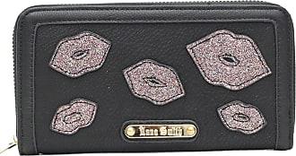 Saute Styles Authentic Anna Smith Women Celebrity Lips Wallet Bag Ladies LYDC Purse Box Gift Black