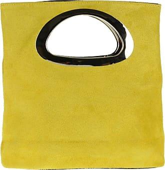 Girly HandBags Girly HandBags Genuine Suede Italian Handbag - Yellow
