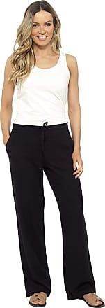 Tom Franks Linen Blend Full Length Trousers with Ribbed Waist Black 20