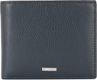 Cerruti logo plaque bifold wallet - Blue
