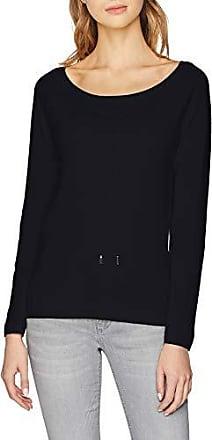 f6fadfdce0bb17 Liu Jo Damen Pullover Ajour Langarmshirt, Blau (Antrym Blue 94010), X-