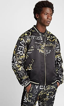 Versace Jeans Couture Baroque block and logo bomber jacket