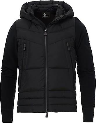 Moncler Hybrid Full Zip Pile Jacket Black