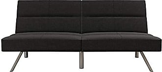 Dorel Home Products DHP Studio Convertible Futon Couch, Grey Linen