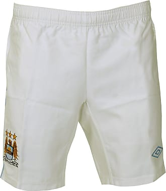 Umbro Manchester City Home Football Shorts - White/Blue-S