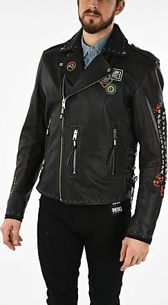 Diesel Leather Embroidered L-JUNER Jacket size Xxl