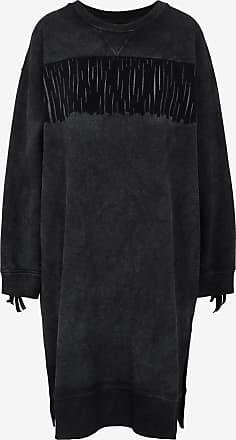 Maison Margiela Oversized Fringe Sweatshirt Dress