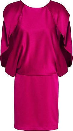 1f0d0c60421bab Halston Heritage Halston Heritage Woman Crepe-satin Mini Dress Plum Size 10