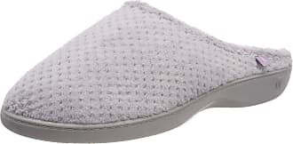 Isotoner Womens Ladies Popcorn Terry Mule Slippers Open Back, Grey (Pale Grey Pgr), 8 (41 EU)