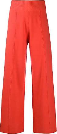 Pringle Of Scotland Calça pantalona de tricô - Laranja