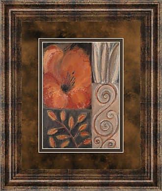 Classy Art Orange Burst I Framed Wall Art - 34W x 40H in. - DM5122