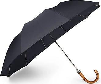 London Undercover Wood-handle Telescopic Umbrella - Navy