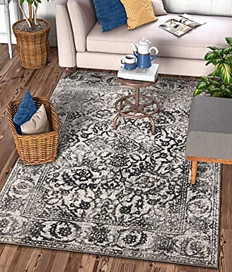 Well Woven 22875 Sydney Vintage Sheffield Grey Traditional Oriental Distressed Area Rug 53 x 73
