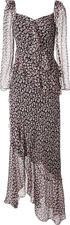 Diane Von Fürstenberg Vestido Jasmyne com estampa floral de seda - Preto