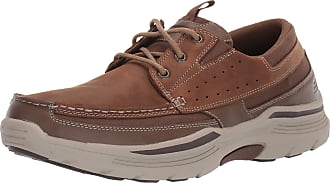 Skechers Mens Expended-menson Leather Lace Up Boat Shoe