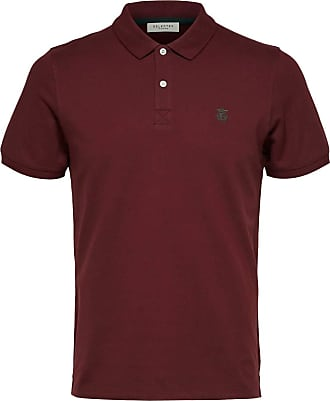 Selected Mens Slharo Ss Embroidery Polo W Noos Vest, Port Royale, L