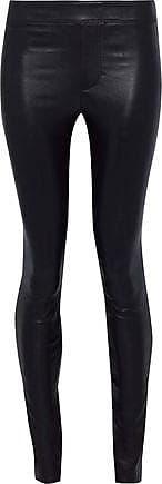 Helmut Lang Helmut Lang Woman Stretch-leather Leggings Dark Purple Size 0