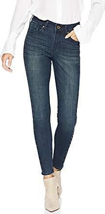 Seven7 Womens Mid Rise Signature Ankle Skinny W//Gold Braid Side Seam
