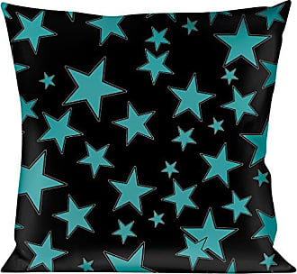 Buckle Down Pillow Decorative Throw Stars Multi Stars Black Turquoise