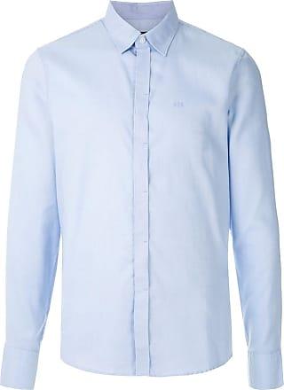 A|X Armani Exchange Camisa slim mangas longas - Azul