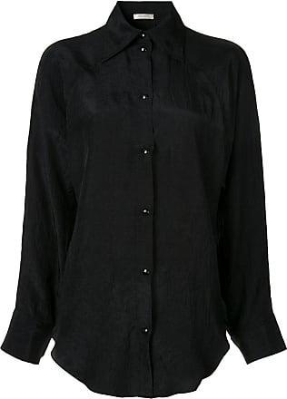 Nina Ricci Camisa lisa com botões - Preto