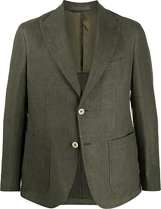 Eleventy single-breasted slim-fit blazer - Green