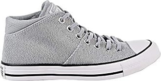 Converse Womens Chuck Taylor All Star Knit Madison Mid Sneaker, White/Wolf Grey, 11 M US