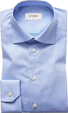 Eton Businesshemd, dezent gemustert, Slim Fit von Eton in Hellblau für Herren