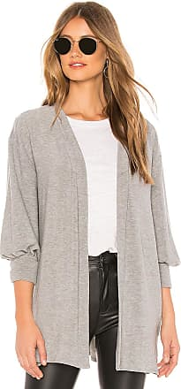 Chaser Bishop Sleeve Cardigan in Gray