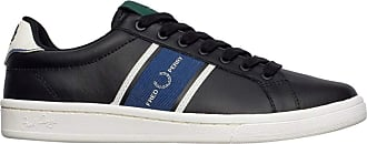 Fred Perry B721 Leather/Webbing Trainers Men Black - UK:8 - Low Top Trainers Shoes