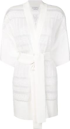Ballantyne Cardigã de tricô com cinto - Branco