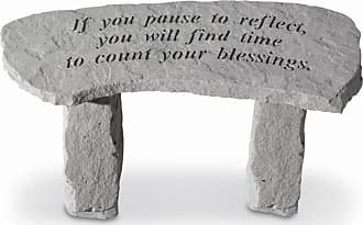 Kay Berry Outdoor Kay Berry If You Pause To Reflect Small Garden Bench - 29 in. Cast Stone - 36320