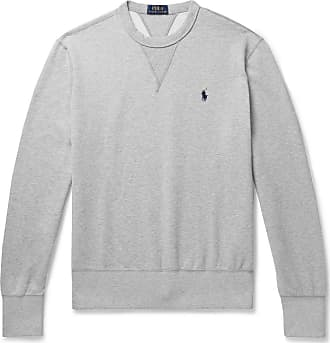 Polo Ralph Lauren Mélange Fleece-back Cotton-blend Jersey Sweatshirt - Gray