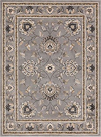 Well Woven 36085 Timeless Abbasi Traditional Persian Oriental Grey Area Rug 53 x 73