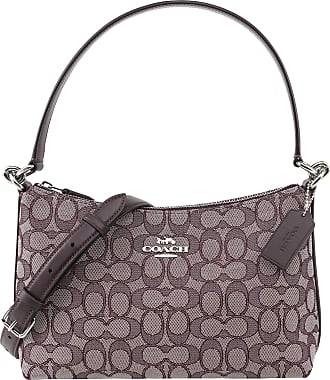 Coach Womens Small Lewis Outline Signature Jacquard Shoulder Crossbody Bag, Style F88899, SV Raspberry