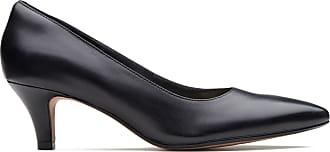 Clarks Womens Heel Black Leather Clarks Linvale Jerica Size 6.5