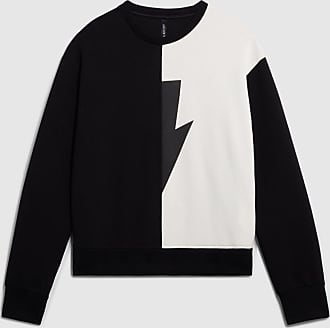 Neil Barrett Travel Half Thunder Lightweight Sweatshirt